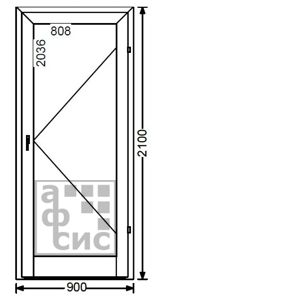алюминиевая дверь одностворчатая холодная цена