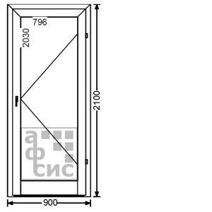 алюминиевая дверь одностворчатая теплая