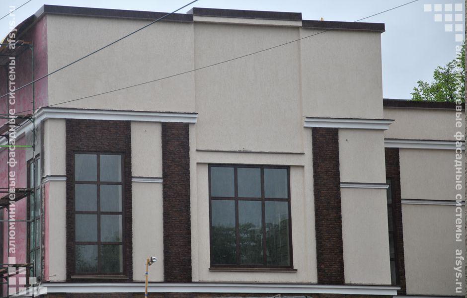 алюминиевые окна фасада