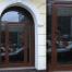 арочная алюминиевая дверь