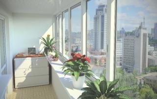 раздвижные окна балкон