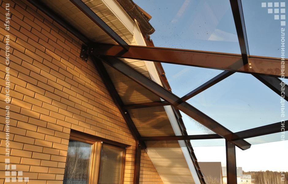 стеклянная крыша для террасы