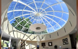 стеклянная крыша купол
