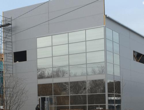 Витражное остекление фасада здания