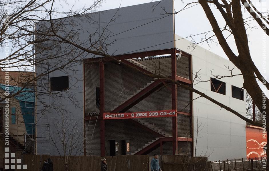 алюминиевое остекление здания