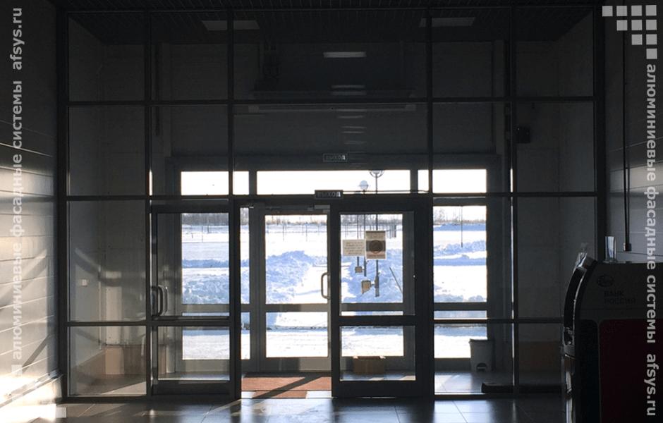 алюминиевая входная группа в здание