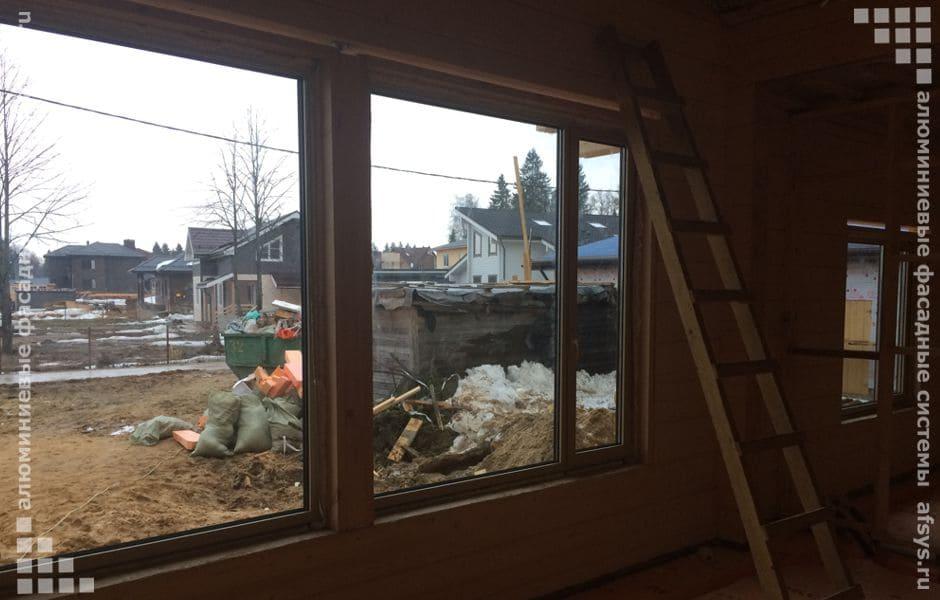 окна из алюминиевого профиля для дома