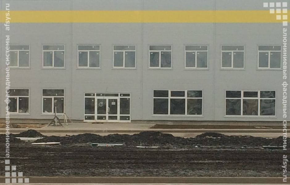 алюминиевые окна и двери для предприятия