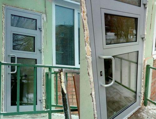 Двери из алюминиевого профиля для аптек